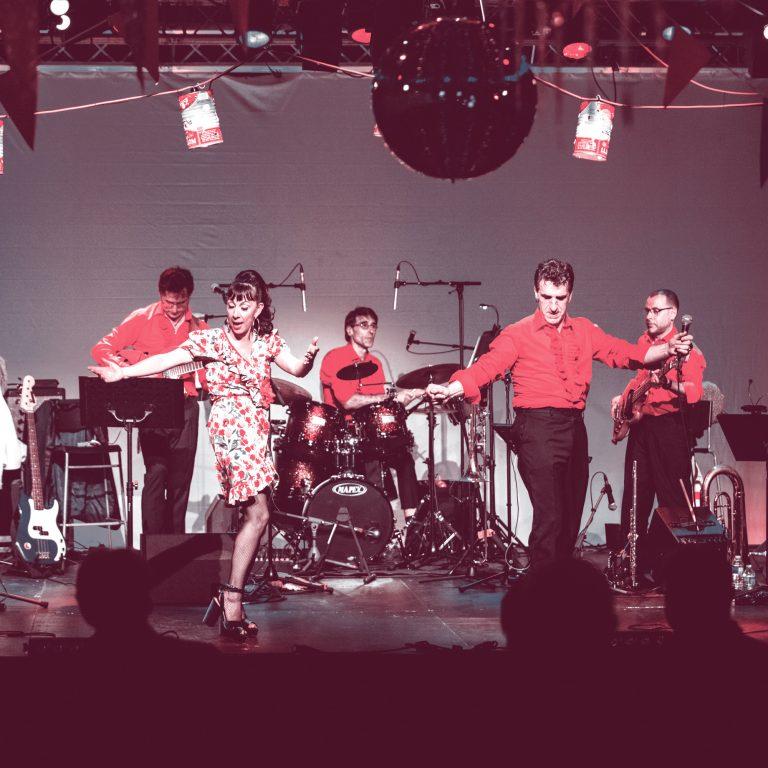 Les Espaces Culturels Thann-Cernay - Salle Relais Culturel - Le Bal de Shirley et Dino - Cie Achille Tonic - comédie musicale dansante - jeudi 28 novembre 2019