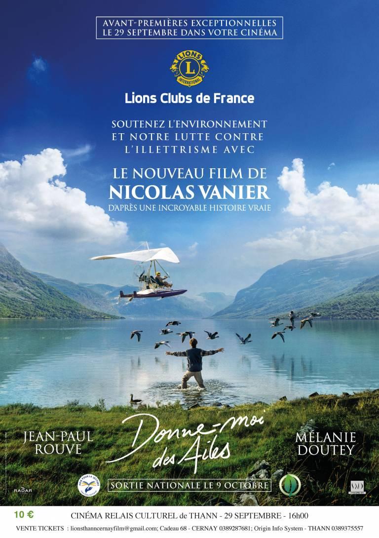 Affiche Donne-moi des Ailes - Lions Club Thann-Cernay