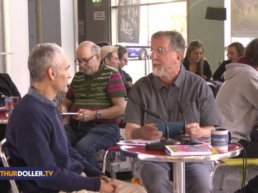 Un plateau télévision aux Espaces Culturels Thann-Cernay de Pays Thur-Doller TV