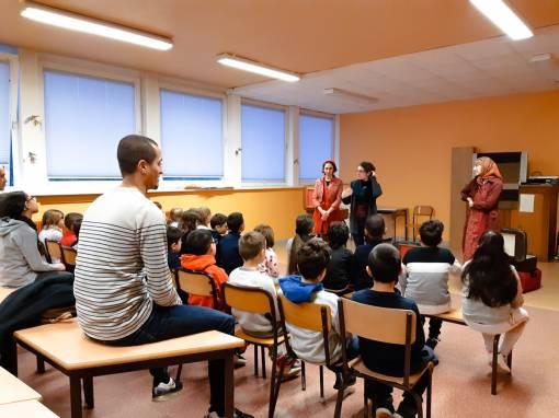 Une journée intense pour la Cie Rêve général ! à l'école des Tilleuls de Cernay
